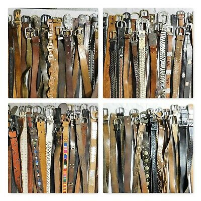 Lot Of 100 Leather Western Fashion Braided Belts Vintage & Contemporary