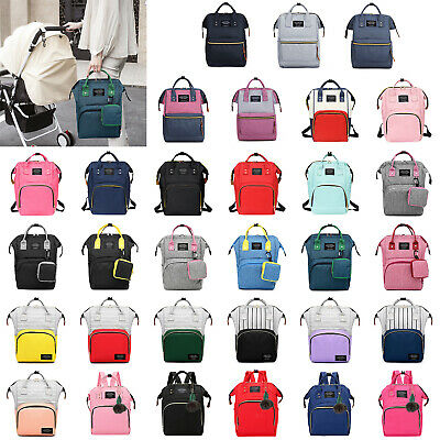 Diaper Bag Large Capacity Mummy Nursing Backpack Handbag Tote Waterproof Satchel