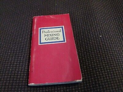 Vintage Cocktail Book Professional Mixing Guide Bar Book Bartending