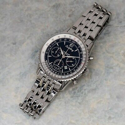 Breitling Navitimer Automatic Montbrilliant Chronograph Black Dial 38mm A41330