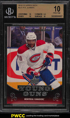 2010 Upper Deck Young Guns P.K. Subban ROOKIE RC #231 BGS 10 PRISTINE (PWCC)