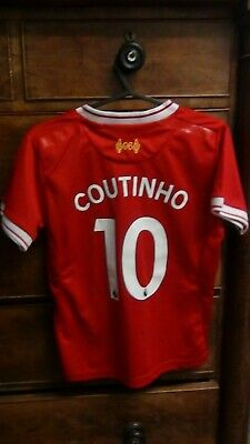 Liverpool Home Football Shirt Jersey 2017-2018 COUTINHO 10 22 9-10 Years