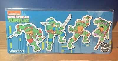 Loot Crate 1980's Exclusive Teenage Mutant Ninja Turtles Magnet Set TMNT New