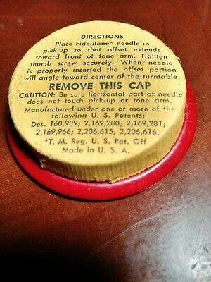 old FIDELITONE  gramophone needle tin and dust cleaner Great Display or for use