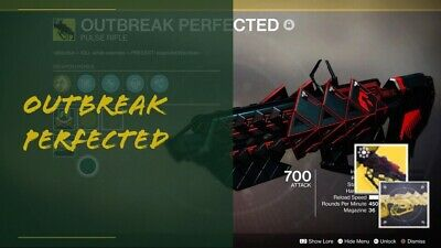 Outbreak Perfected (+ emblem or catalyst pack or ship) | Destiny 2 | PS4