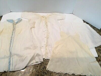 Lovely Lot of Vintage Baby gowns & Slips COTTON BATISTE Embroidery Lace Smocking