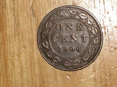 Canada 1906 Large Cent coin Very Good nice