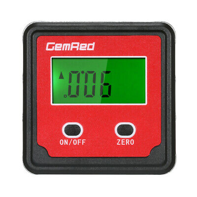 GemRed Level Box Angle Gauge Digital Angle Finder Inclinometer Level Gauge K1T8
