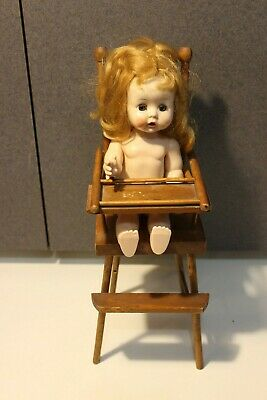 Vintage Furniture Wood Wooden High Chair Fits Ginny Dolls