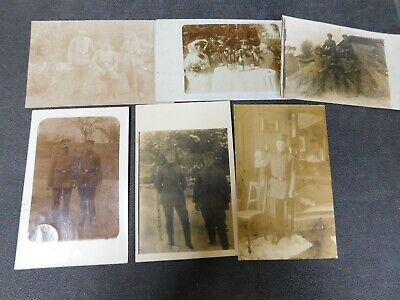 6x lot of WW1 GERMAN Real Photo RPPC Postcards SOLDIERS IN UNIFORM  #11