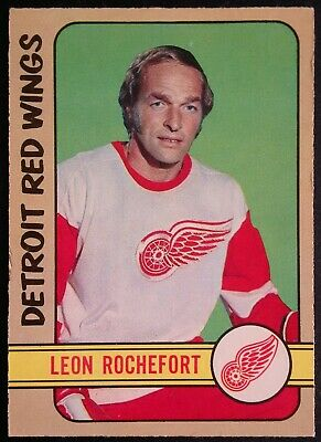 1972-73 OPC O-Pee-Chee Hockey #204 Leon Rochefort Detroit Red Wings