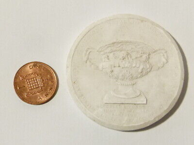 Antique Medal Thomason's Metallic Bronze Vase Plaster Moulding Grand Tour #W17