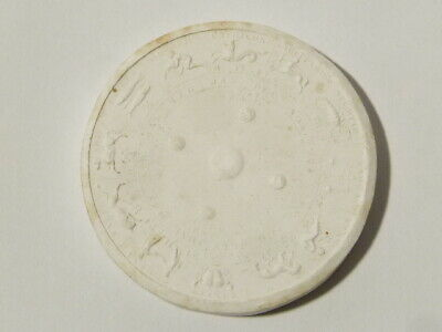 Antique Medal Zodiac Signs Calendar Plaster Moulding Grand Tour #W21
