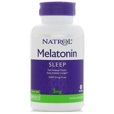 Natrol Melatonina - 3 MG-240 Tabletas