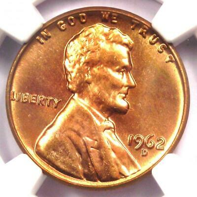 1962-D Lincoln Cent Penny 1C - NGC MS67+ RD Plus Grade - Top Pop - $5,850 Value!