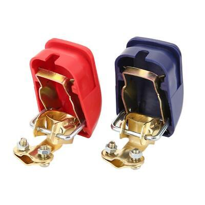 1 Pair 12V Quick Release Battery Terminals Clamps Clip for Car Caravan Boat ##c