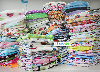5 Pcs Baby Cloth Diapers Pocket Nappy One Size TPU Reusable Washable INSERTS