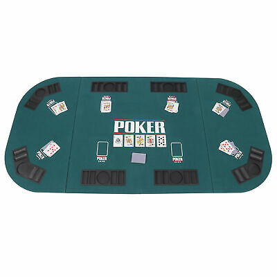Portable Casino Texas Holdem Folding Poker Padded Table Top For 8 Players