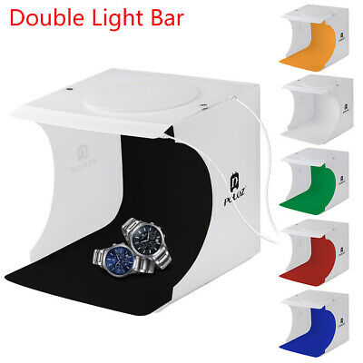 Double LED Light Room Photo Studio Photography Lighting Tent Backdrop Cube Box A
