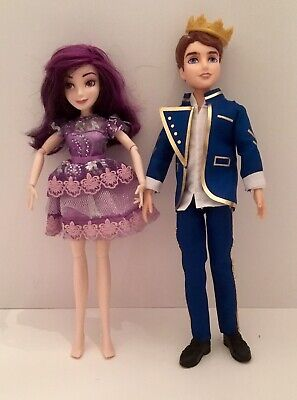 Descendants Dolls Lot Of 2 Mal Isle Of The Lost and Ben Auradon  Used Condition