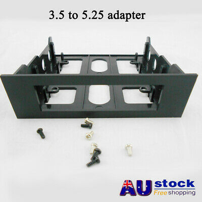 AU Plastic Universal Hard Drive Front Bay 3.5in To 5.25in Mount-Adapter-Bracket