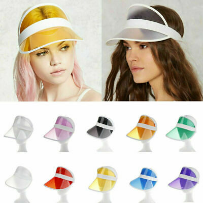 Summer PVC Hat Sun Visor Party Casual Hat Clear Plastic Adult Sunscreen Cap Hat