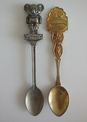 Australia LA 1984 olympic Games, 50th anniversary Sydney Harbour Bridge Spoons
