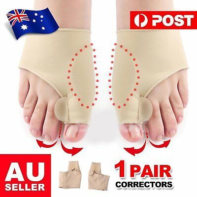 2X Foot Bunion Sleeve Big Toe Silicone Gel Pad Metatarsal Joint Pain Support is