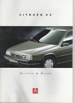 Prospectus - Catalogue Citroën Zx