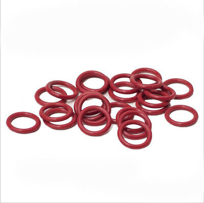 30-100Pcs Silicone Rubber O-Ring Outer Diameter 8 - 70mm Cross Section 1.0mm Red