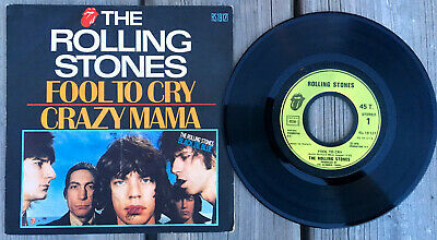 THE ROLLING STONES SP 45T 1976 Fool to cry - Crazy mama