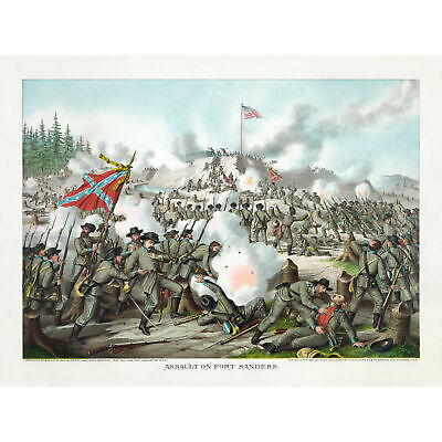 Kurz Allison US Civil War Assault Fort Sanders 1863 Huge Wall Art Poster Print