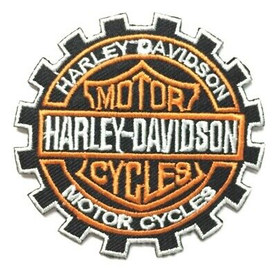 Harley Davidson Geared Motorcycle Iron- On Patch