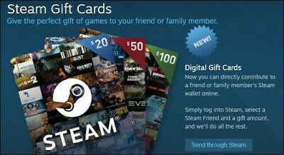 Promo: $50 USD Steam Gift Card / 50 USD Dollar Steam Wallet Prepaid Card