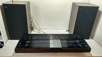 Bang And Olufsen Amplifier Beomaster 1001 & Beovox 1202 Speakers Vintage stereo