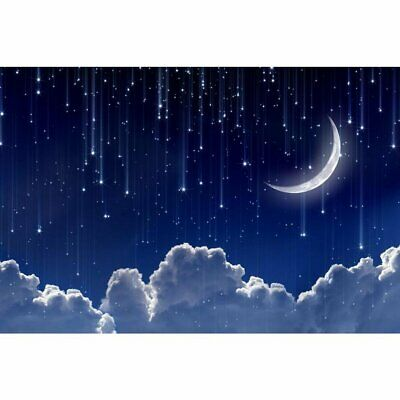 BLUE MOON SKY STARS NIGHT Perfect View Canvas Wall Art Picture L576 MATAGA .