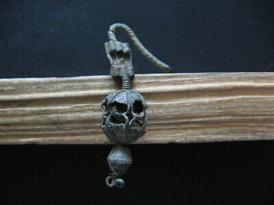 HALLSTATT CULTURE ANCIENT CELTIC SILVERED BRONZE FILIGREE EARRING 700-500BC 58mm