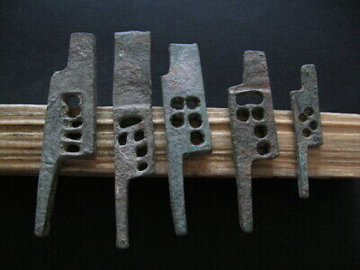5 ANCIENT ROMAN BROZE DOOR LOCK KEYS MECHANISM 1-2 ct. A.D. FROM VILLA RUSTICA