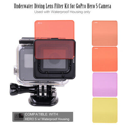 Underwater Diving Lens Filter Kit Used with Waterproof Housing only New C8D9