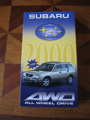 CASSETTE VIDEO SUBARU AWD 2000 VHS Belgique All Wheel Drive IMPREZA JUSTY LEGACY