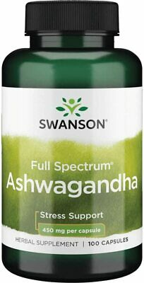 SWANSON Ashwagandha 450mg Daily Stress Support Calmness Relaxation