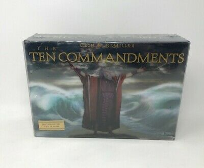 NEW The Ten Commandments 6 Disc Limited Edition Blu-ray/DVD Combo Set SEALED