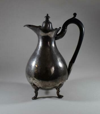 Stunning Antique Late Georgian Britannia Metal Hot Water Jug