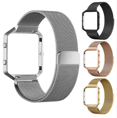 Metal Strap for Fitbit Blaze Stainless Steel + Frame Replacement Milanese Band