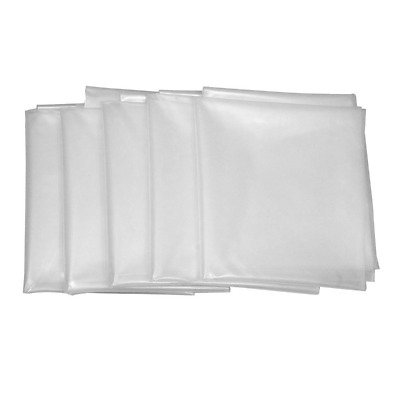 """Clear Plastic Dust Collector Bag 5 Pack 20"""" Diameter by 43"""" Long For Machines wi"""