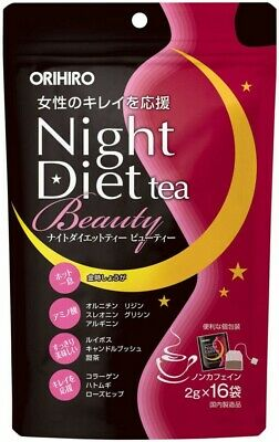 ORIHIRO Night Diet Tea BEAUTY 2g X 16pcs Amino acid collagen adlay Non caffeine