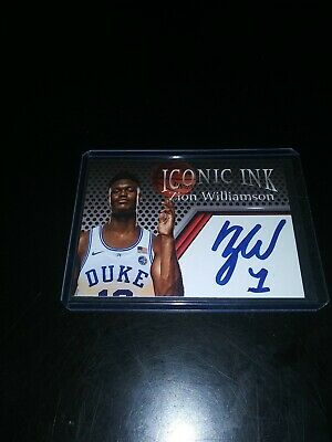 ZION WILLIAMSON 2018 Autograph Auto Edition Rookie Card RC Duke