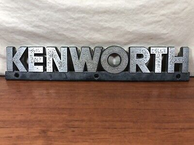 Vintage Original Survivor KENWORTH Truck Advertising Hood Emblem Ornament