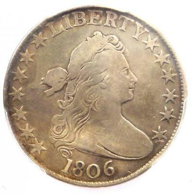1806 Draped Bust Half Dollar 50C - PCGS VF Details - Rare Certified Coin!