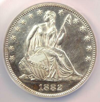1882 Seated Liberty Half Dollar 50C Coin - Certified NGC AU Details - Rare Date!